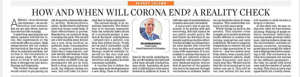 When and how will Corona end.